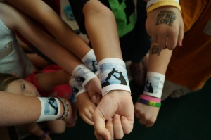 Trusting in the Lord wristbands.