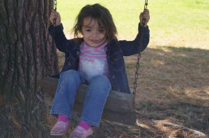 Enticed by the swing.