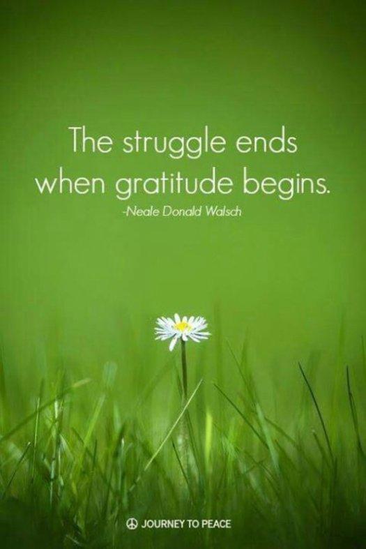 Gratitude begins