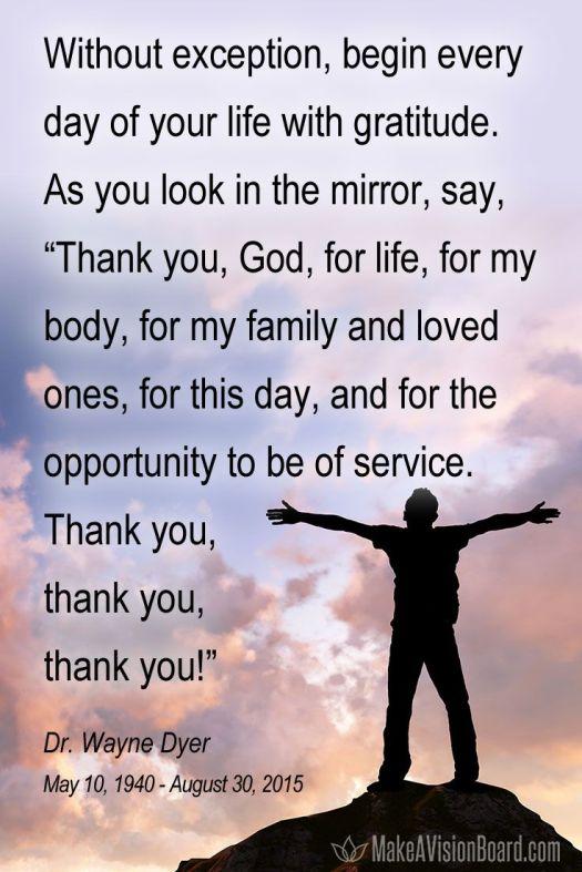 begin with gratitude