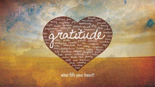 gratitude fills heart