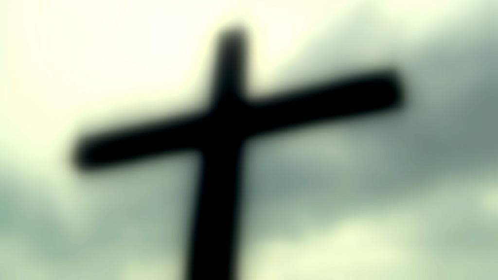 blurry cross