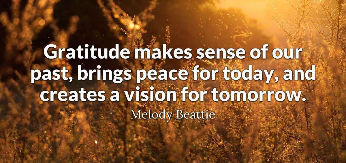 gratitude yesterday, today, tomorrow