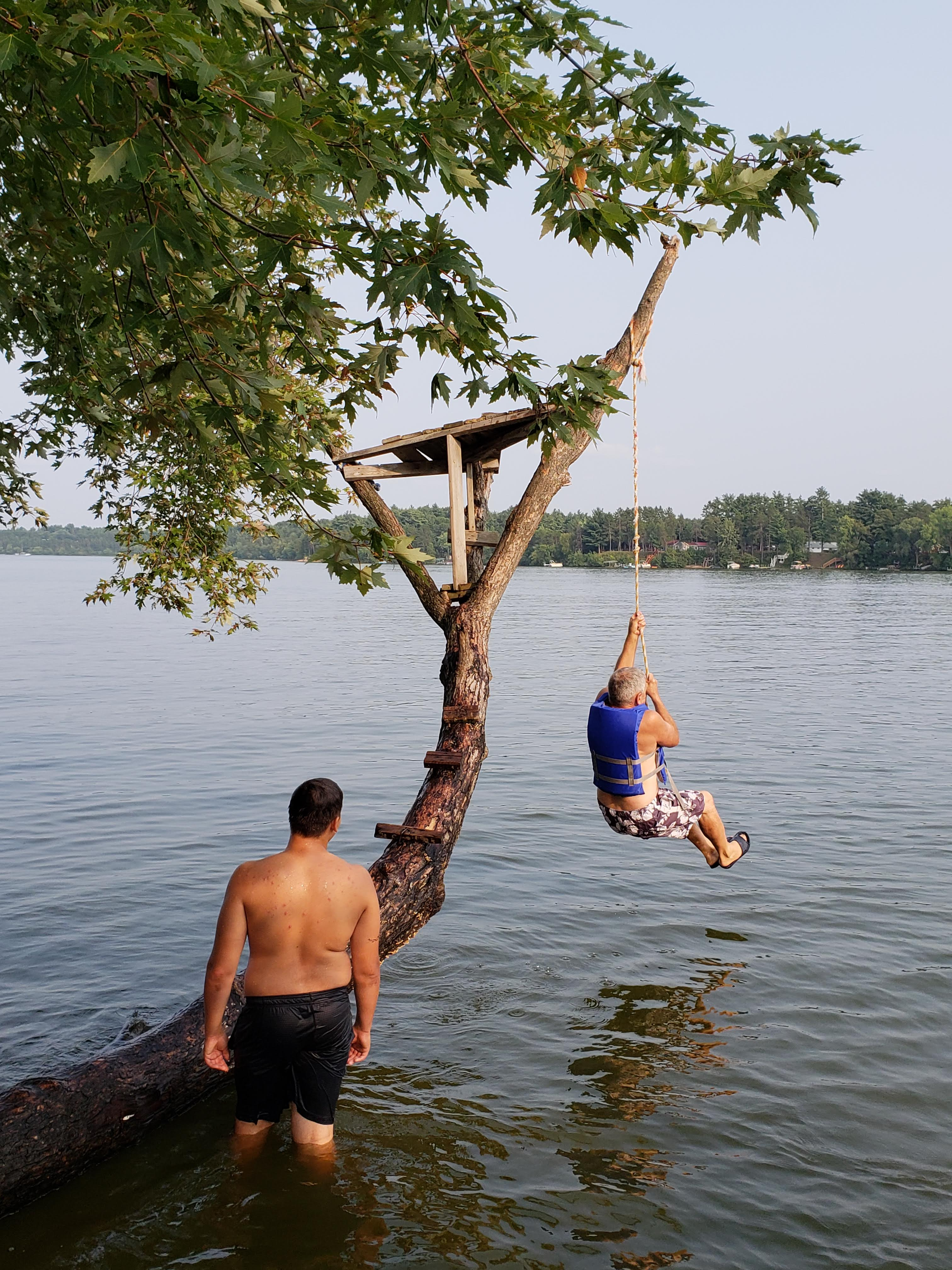Rick and rope swing