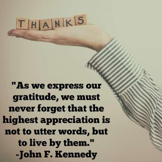 JKF gratitude