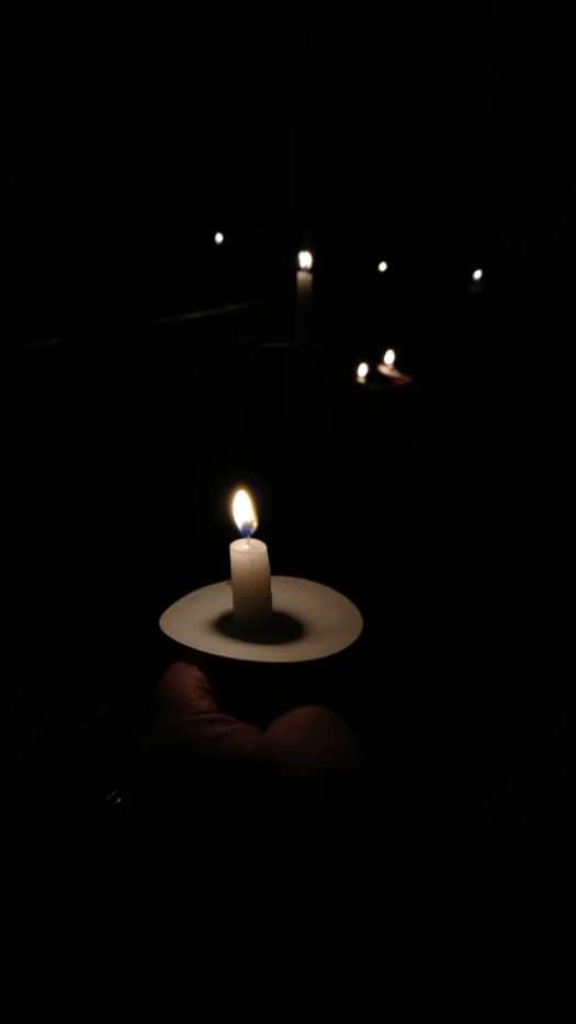 candle at Silent Night