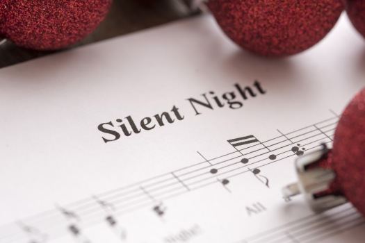 Silent Night music score background