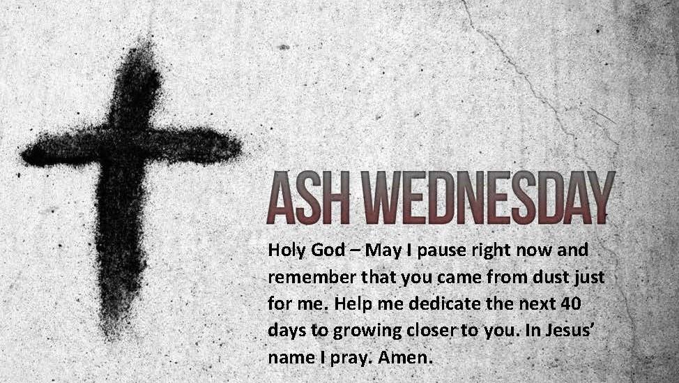 Ash Wed Prayer 2019